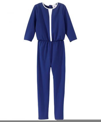 Womens Stylish, Extra-Secure Anti-Strip Jumpsuit Navy