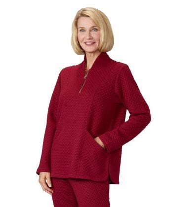 Women's Easy Dressing Open Back Half Zip Track Suit Top