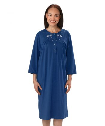 Adaptive Long Sleeve Hospital Gown for Women