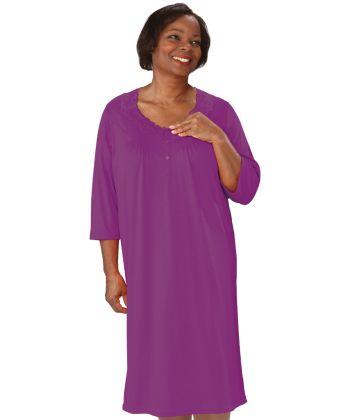 Nightgown Open Back Knit in Purple