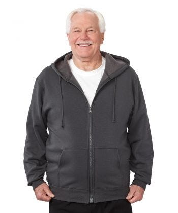Mens Magnetic-Zipper Hoodie with Pockets