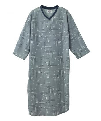 Poly-Cotton Hospital Gowns for Men Gray/White