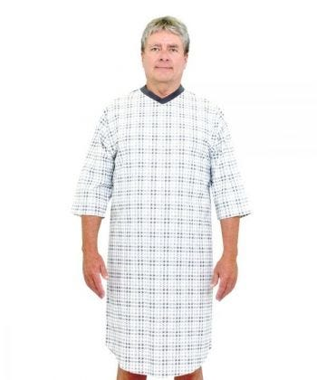 Men's Flannel Hospital Gowns - Clearance