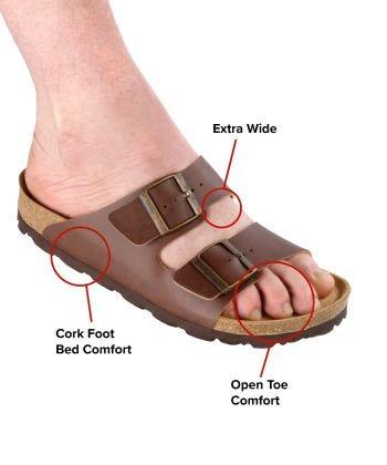 Mens Slip-On Shock-Absorbing Adjustable Sandals
