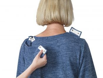Women's Open Back Diamond Neck Top