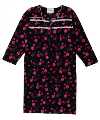 100% Cotton Flannel Hospital Gown with Snaps