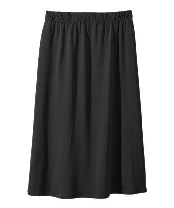 Senior Women's Pull-on Skirt Black
