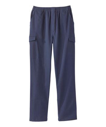 Senior Men's Adaptive Pull-on Pant with Cargo Pockets Indigo
