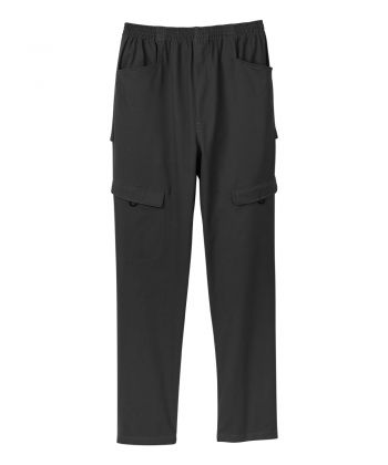 Senior Men's Open Back Adaptive Cargo Pant Black