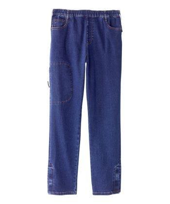 Men's Self Dressing Side Zip Jeans