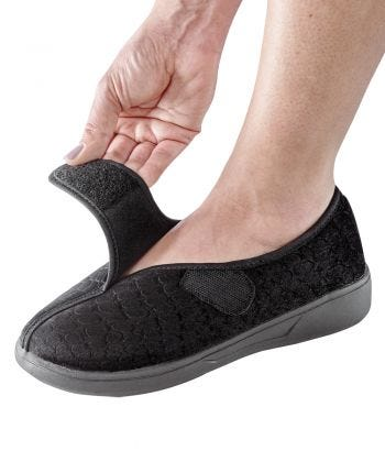 VELCRO® Brand Closure Slippers - Womens Extra Wide Slippers- Skid Resistant