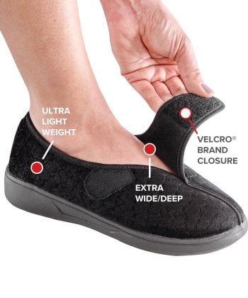 Women's Extra Wide Slip Resistant Slippers