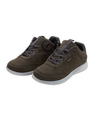 Womens Zipper Easy Access Shoes  Gray