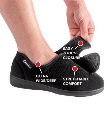 Womens Stretchable Comfort Hugster Shoe / Slipper