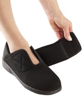Chaussures très larges pour femmes - Bandes auto-agrippantes pour les pieds enflés