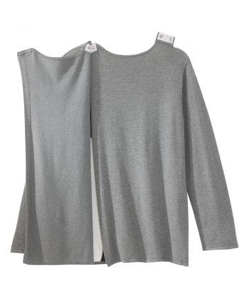 Women's Open Back Color Blocked Long Sleeve Sweater