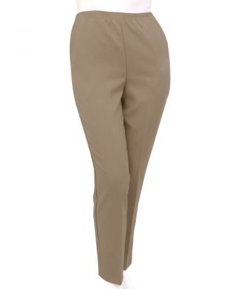 Women's Pull On Pants - Elastic Waist Polyester Pants for Women - Clearance
