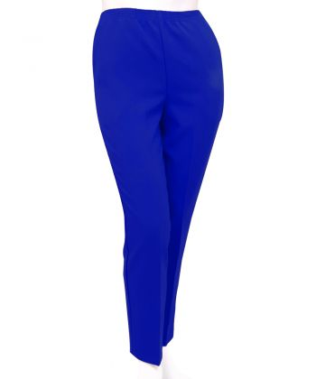 Women's Pull On Pants - Elastic Waist Polyester Pants for Women