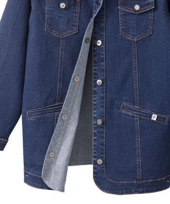 Women's Self Dressing Magnetic Closure Jean Jacket