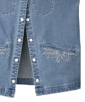 Women's Self Dressing Magnetic Closure Denim Vest