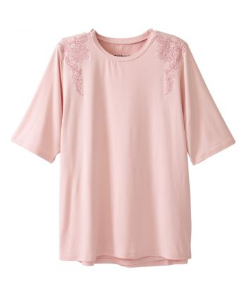 Women's Open Back Embroidered T-Shirt