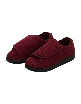 Womens Extra Extra Wide Easy Closure Antimicrobial Slippers