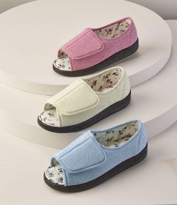 Women's Indoor & Outdoor Extra Wide Open Toe Shoes