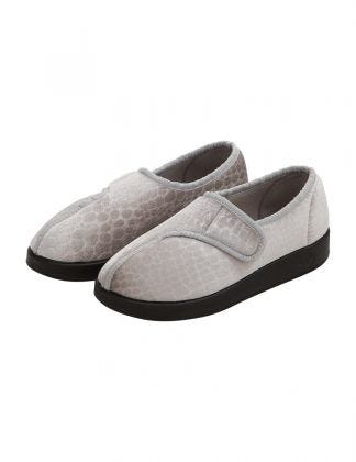 Extra Wide Antimicrobial Easy Closure Womens Slippers