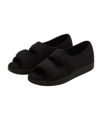 In&Outdoor,Easy Closure,Open Toe,Sandal in Black, Black