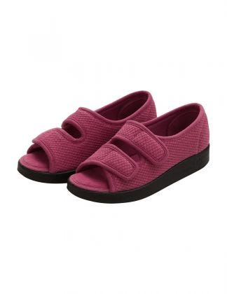 Womens Easy Closure Sandal for Indoors & Outdoors Rose Petal