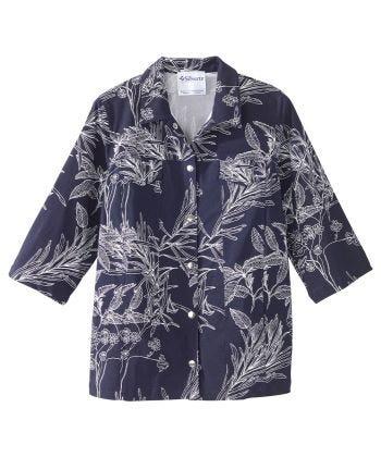 Senior Women's Adaptive Magnetic Closure Denim Inspired Jacket Indigo Fauna