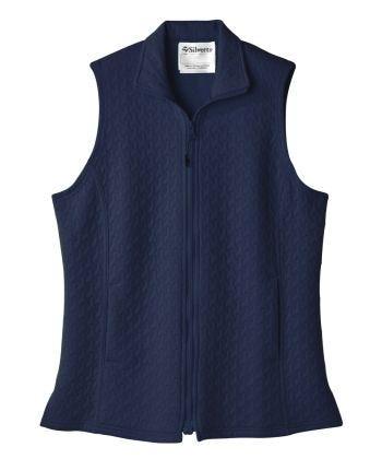 Senior Women's Adaptive Mag Zip Track Suit Vest Indigo