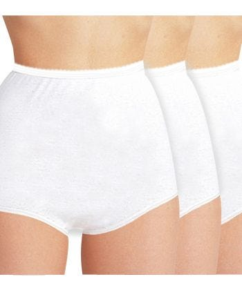 3 Pack Womens Cotton Briefs 3-Pack