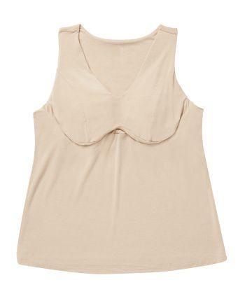 Comfy Wire-Free Bra Camisole Vest - Breast Nest Creamy