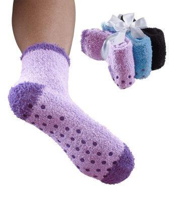Women's Skid Resistant Slipper Grip Socks (3-Pack)