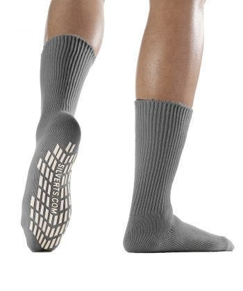 Women's / Men's Non Slip Resistant Grip Socks Gray