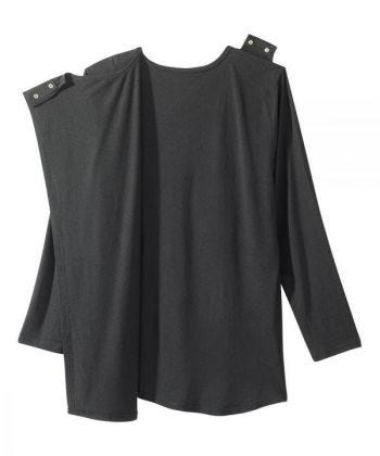 Women's Open Back Embellished Long Sleeve Top
