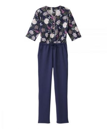 Women's Stay Dressed Jumpsuit with Henley Top