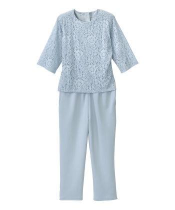 Senior Women's Adaptive Lace Anti-Strip Suit Breezy Blue