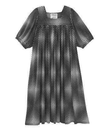 Senior Women's Float Dress - Moo Moo Lounge House Dress Dots Print