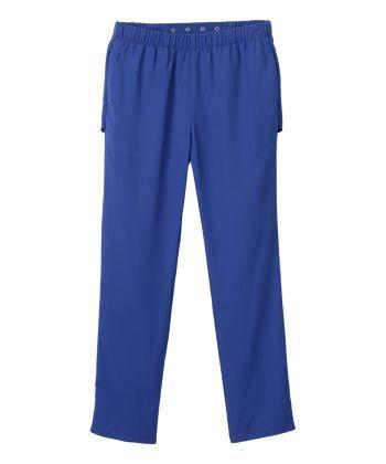 Senior Women's Open Back Adaptive Gabardine Pant Galaxy Blue
