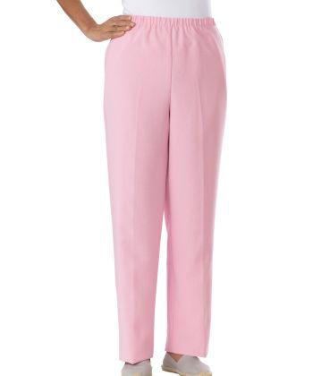 Womens Open Back Wheelchair Pants Pink
