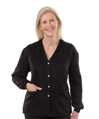 Adaptive Fleece Cardigan for Women