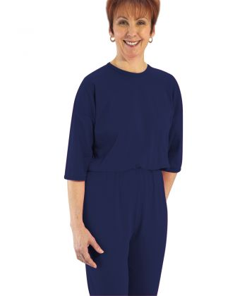 Womens Dementia Alzheimer's Anti Strip Jumpsuits Navy