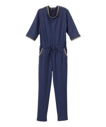 Womens Anti Strip Suit Jumpsuit Navy