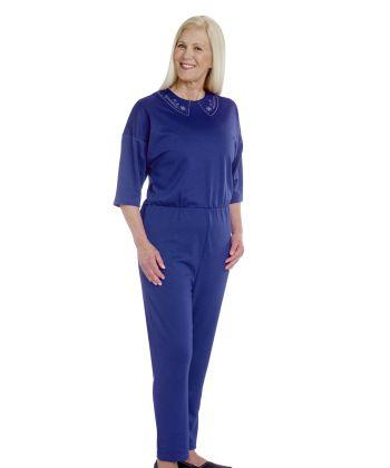 Womens Anti Strip Suit Jumpsuit Cobalt