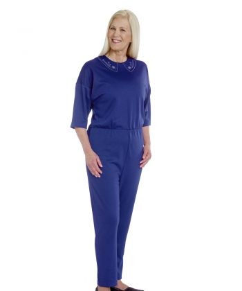 Women's Stay Dressed Jumpsuit for Dementia Full Back Zip - Clearance
