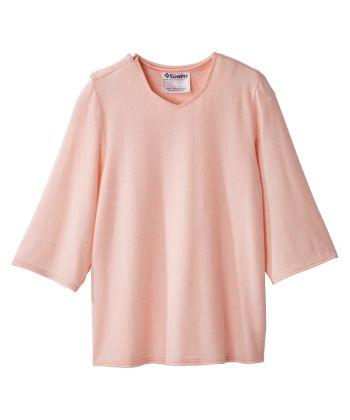 Women's Open Back 3/4 Sleeve Soft Top