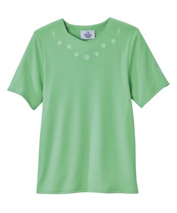 Women's Soft Embroidered Adaptive Top