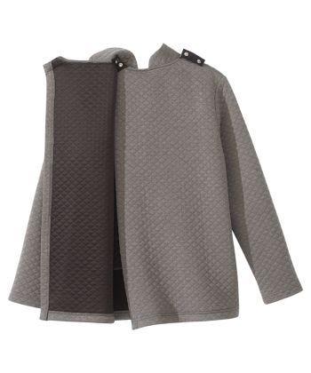 Women's Easy Dressing Open Back Half Zip Track Suit Top